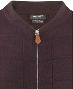 YE-6737-9 Baseball collar burgundy vintage jumper
