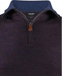 YE-6738-24 High zip neck purple oil jumper