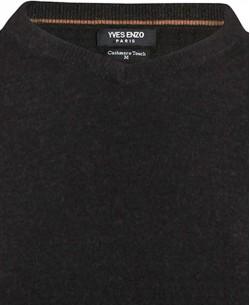 YE-6739-3 V-neck Black jumper
