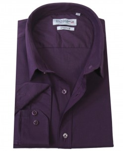 T04-4 Purple STRETCH shirt slim fit